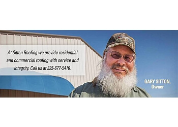 Abilene roofing contractor Gary Sitton Roofing LLC