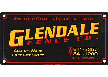 Glendale fencing contractor Glendale Fence Co.