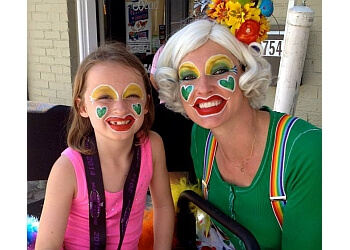Montgomery face painting Glitterbug the Clown