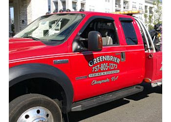 Chesapeake towing company Greenbrier Towing & Recovery