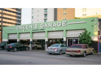 Miami car repair shop Green's Garage