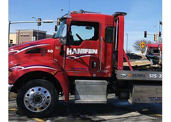 Des Moines towing company HANIFEN CO INC