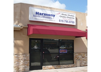 San Diego window treatment store HARMONY BLINDS AND SHUTTERS,  Inc.