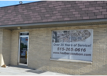 Des Moines roofing contractor Hedberg and Son