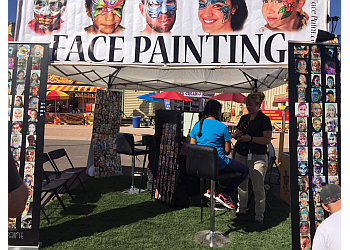 Chandler face painting Hello Face paint