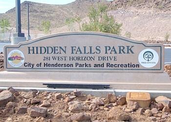 Henderson public park Hidden Falls Park