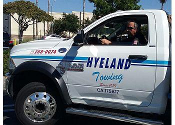 Orange towing company Hyeland Towing & Roadside Assistance