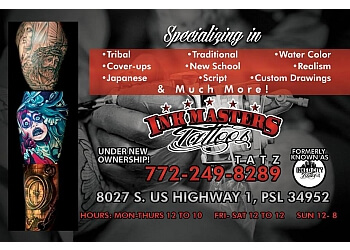 Port St Lucie tattoo shop Ink Masters Tattoos