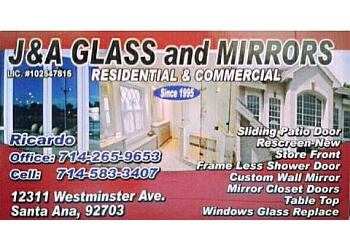 Santa Ana window company J & A Glass and Mirrors