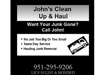 Moreno Valley junk removal JOHN'S CLEAN UP & HAUL