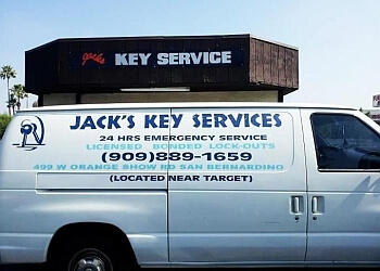 San Bernardino locksmith Jack's Key Service 24/7