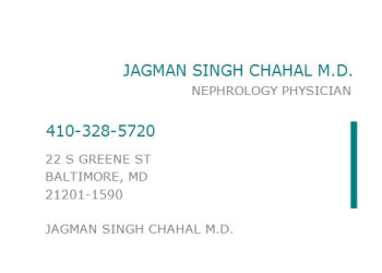 Baltimore nephrologist Jagman Chahal, MD