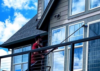 Portland window cleaner James Co. Window Cleaning