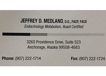 Anchorage endocrinologist Jeffrey Medland, DO