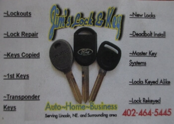 Lincoln locksmith Jim's Lock and Key, Inc.