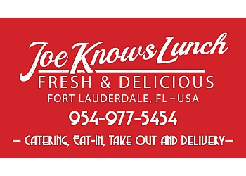 Fort Lauderdale caterer Joe Knows Lunch