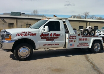Fort Collins towing company Just 4 Fun Towing & Transport Services LLC