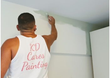 New York painter KD Cares Painting