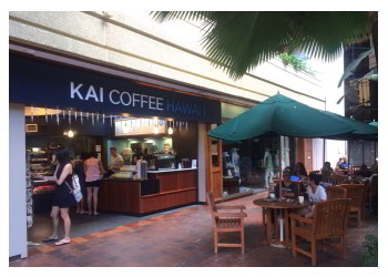 Honolulu cafe Kai Coffee Hawaii