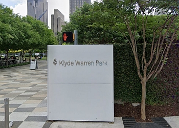Dallas public park Klyde Warren Park