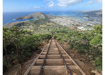 Honolulu hiking trail Koko Crater Railway Trail