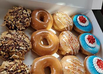 Orange donut shop Krispy Kreme Doughnuts