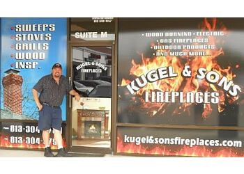 Tampa chimney sweep Kugel & Sons Fireplaces