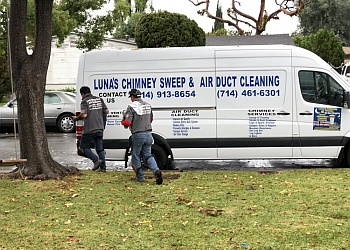 Huntington Beach chimney sweep LUNA'S CHIMNEY SWEEP & AIR DUCT CLEANING