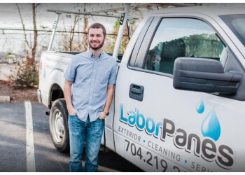Greensboro window cleaner Labor Panes