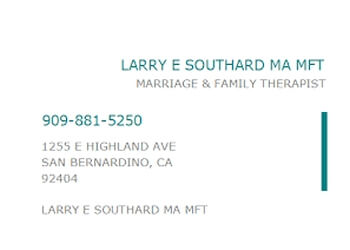 San Bernardino marriage counselor Larry Southard, MA, MFT