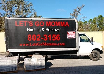 Jacksonville junk removal Let's Go Momma junk hauling & removal