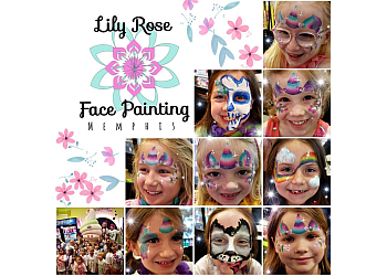 Memphis face painting Lily Rose Face Painting