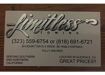Glendale towing company Limitless Towing