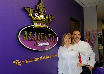 Corona sign company Majestic Sign Studio