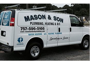Newport News plumber Mason and Son Plumbing, Heating & A/C, Inc.