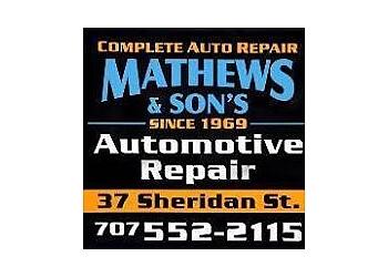 Vallejo car repair shop Mathews & Sons Automotive
