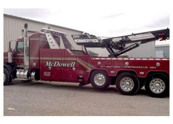 Springfield towing company McDowell Wrecker