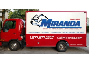 Port St Lucie plumber Miranda Plumbing and Air Conditioning Services
