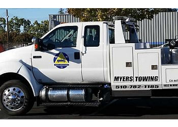 Hayward towing company Myers Towing Service