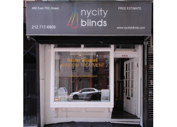 New York window treatment store NY City Blinds