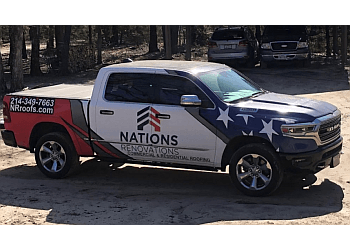 Garland roofing contractor Nations Renovations
