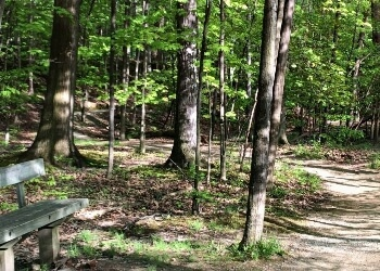 Cleveland hiking trail Nature Center at Shaker Lakes