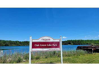 Chesapeake hiking trail Oak Grove Lake Park
