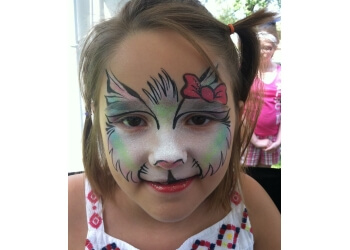 Warren face painting Oddzin Ends Family Entertainment