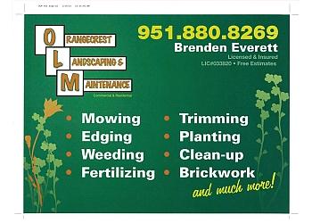 Riverside landscaping company Orangecrest Landscaping & Maintenance