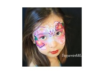 Pasadena face painting PEPPERMINT MILL FACE PAINTING