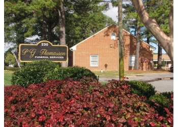 Virginia Beach funeral home P.G. Thomasson Funeral Services