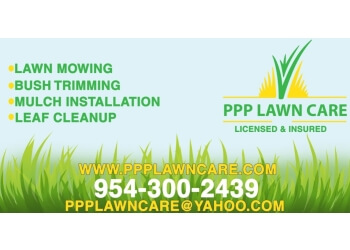 Fort Lauderdale lawn care service PPP LAWN CARE LLC
