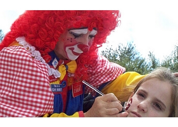 Augusta face painting Pammy the Clown