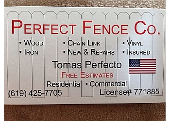 Chula Vista fencing contractor Perfect Fence Company